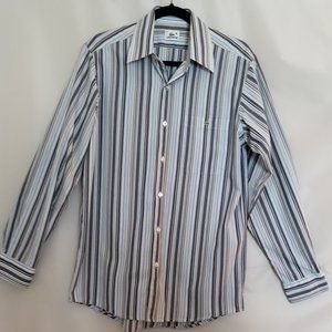 Lacoste Blue and White Stripped Button Down-40